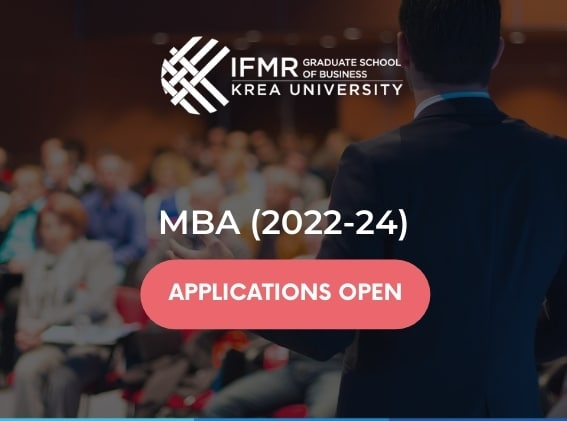 IFMR GSB MBA Admissions Open Now