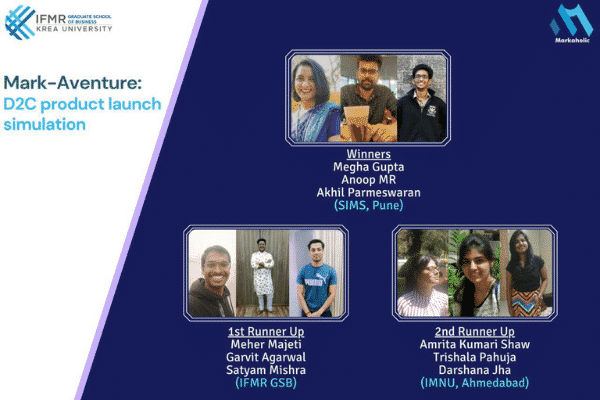 IFMR GSB concludes 'Mark-Aventure' — 45-day marketing competition