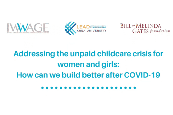 Learning session on unpaid childcare crisis