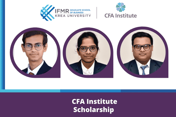 IFMR GSB students bag CFA scholarships again
