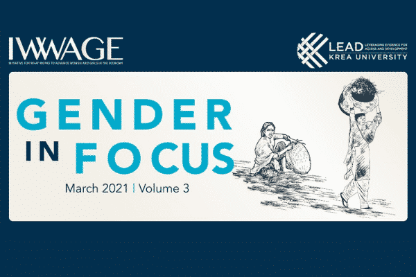 Latest edition of 'Gender in Focus' by IWWAGE