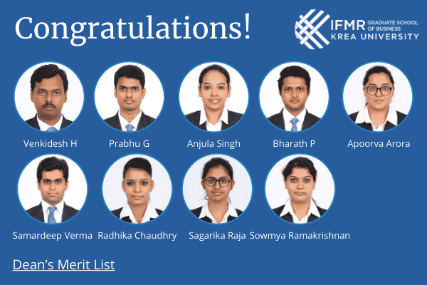List of medal winners and Dean's Merit List awardees from the MBA cohort of 2020 announced