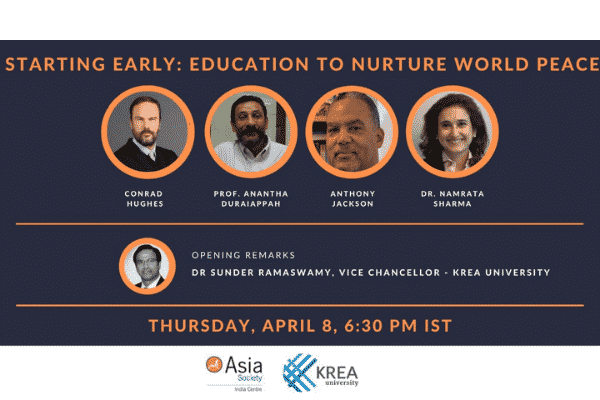 TODAY | Starting Early: Education to Nurture World Peace@ 6.30 PM IST