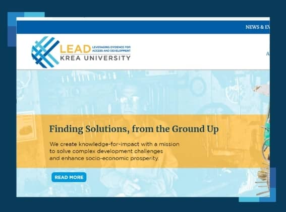 LEAD at Krea University launches new website!