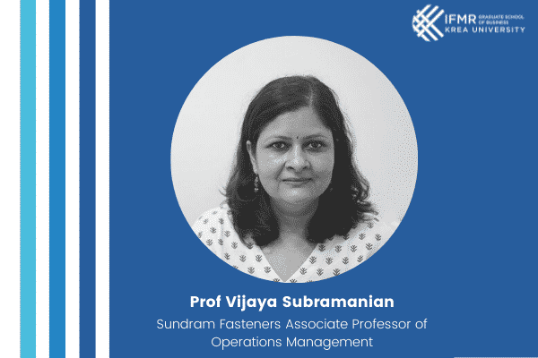 'Social Science and Medicine' Journal accepts impactful paper on supply chain co-authored by Prof Vijaya Subramanian