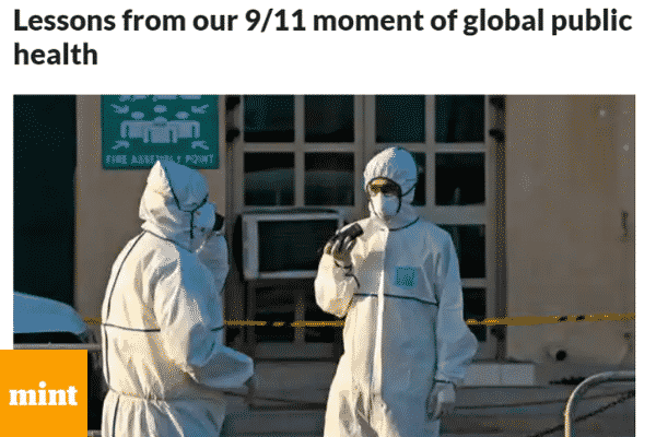 LiveMint publishes 'Lessons from our 9/11 moment of global public health' - co-authored by Kapil Viswanathan