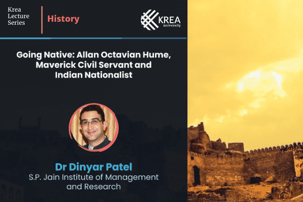 'Krea Lecture Series: History' with Dr Dinyar Patel | 29 Sept, 3 PM IST