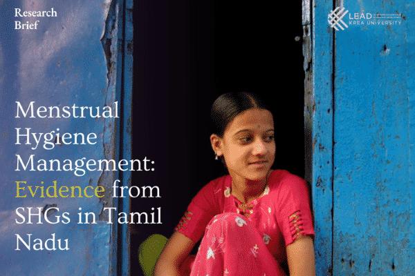 Menstrual hygiene management: Evidence from SHGs in Tamil Nadu